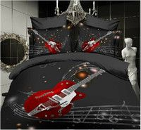3D Bedding Music Note 3D Oil Painting Bedding Sets Cotton Quilts Bedding Set Queen Bedding Wholesale Cheap Quilt FreeShipping