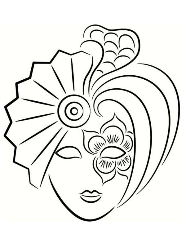 Coloriage de Mardi Gras   Coloriage masque, Coloriage ...