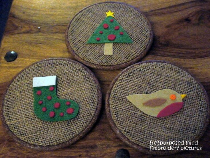 Christmas Embroidery Hoop Art | Hoop Art | Pinterest | Embroidery Hoops Embroidery Hoop Art And ...