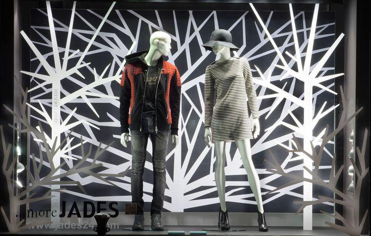 Store: ... more JADES | Address: Breite Straße 1 / 40213 Düsseldorf | Concept & Realisation: Domagoj Mrsic / Sayonara Visual Concepts | Concept Title: Fashion Forest | Photos: Uschi Fellner | Mannequins: GENESIS MANNEQUINS, Vision & Vogue