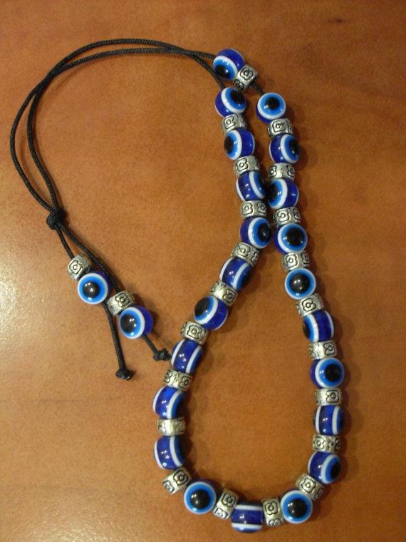 GREEK EVIL EYE round beads komboloi tesbih by GREEKNOVELTYGOODS, $3.98