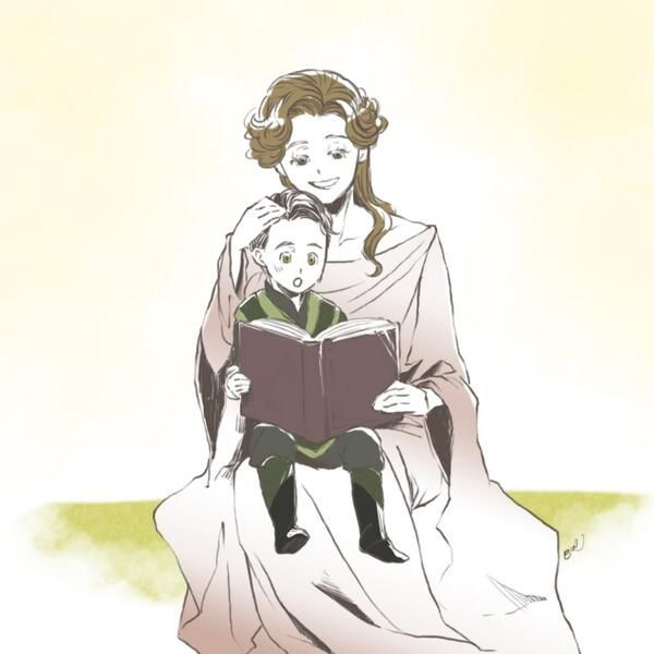 Loki and Frigga This has been my phase all week. We really needed more loki and his mother...and we got it in thor 2. I was very happy.