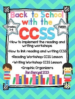 {Freebie} Get a jump start on back to school planning and the Common Core State Standards with this FREE resource!  There are three main goals of this resource:  1. To describe the structure of the reading and writing workshops.  2. To describe how teachers can make connections between the reading and writing Common Core State Standard lessons they teach every day.  3. To model how to connect reading and writing lessons.