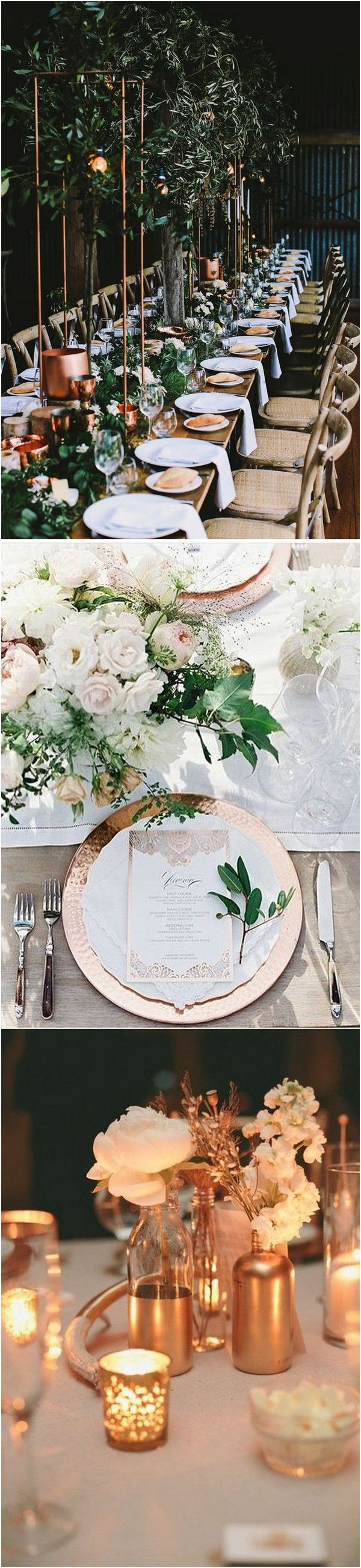 industrial garden wedding reception ideas with accents of copper_