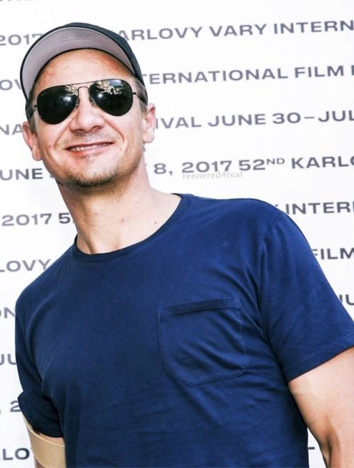 Jeremy Renner arrives at the 52nd Karlovy Vary International Film Festival - July 6, 2017