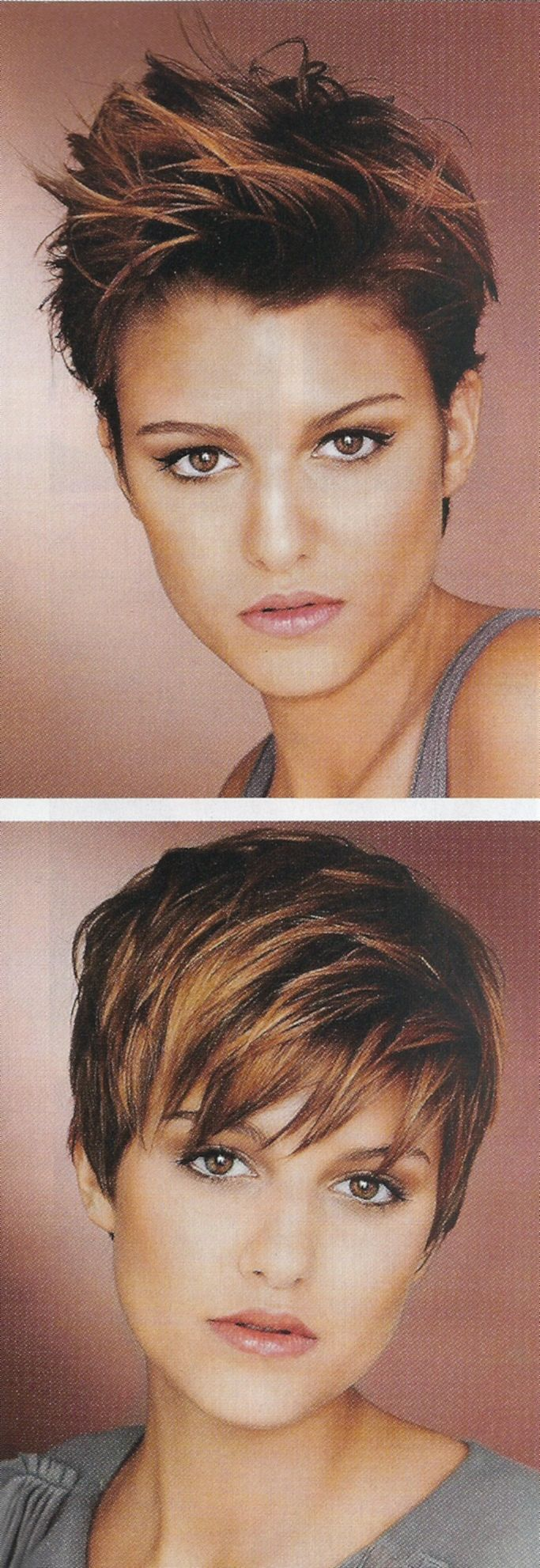 """Pixie Hairstyle Styled Two Ways. For boys or girls."" // or the other kinds of girls. =)"