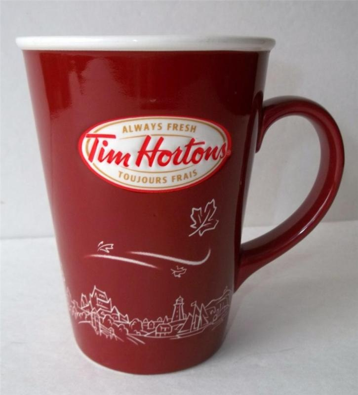 Tim Hortons Limited Edition 2010 Red Ceramic Coffee Mug Maple Leaf | eBay
