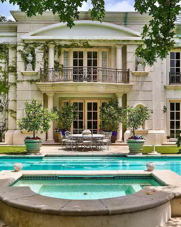 Neoclassical Gated French Villa Located In Benedict Canyon