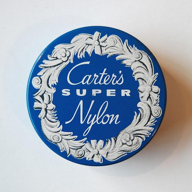 Carter's Super Nylon // Vintage Typewriter Tins