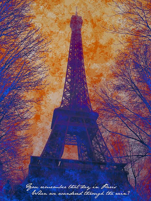 """Digital collage of a picture I took in Paris. The quote is from the song """"How Beautiful You Are"""" - The Cure"""
