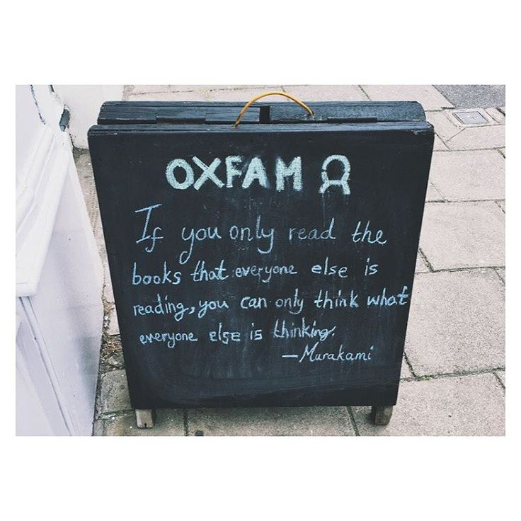 Lovely words of wisdon from Oxfam Bristol