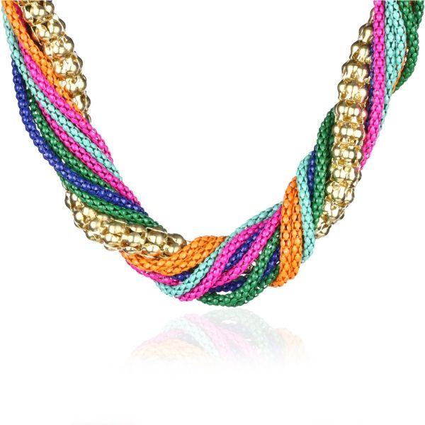 Hasır Örgü Çoklu Zincir Kolye #kolye #zincir #takı #bahar #renkler #renkli #neon #moda #trend #newseason #accessory #kadın #women #trend #colorful #chain #necklace #fashion #spring #elegant #dressy