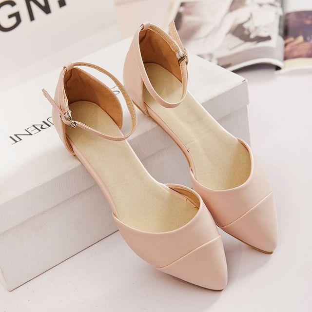Nueva manera de las mujeres zapatos de verano sandalias flip flops diseñador 2016 de conducción pisos punta estrecha de las mujeres zapatos de las señoras sandalias planas