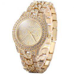 SHARE & Get it FREE | Geneva Luxurious Diamond Quartz Watch Women Wristwatch…
