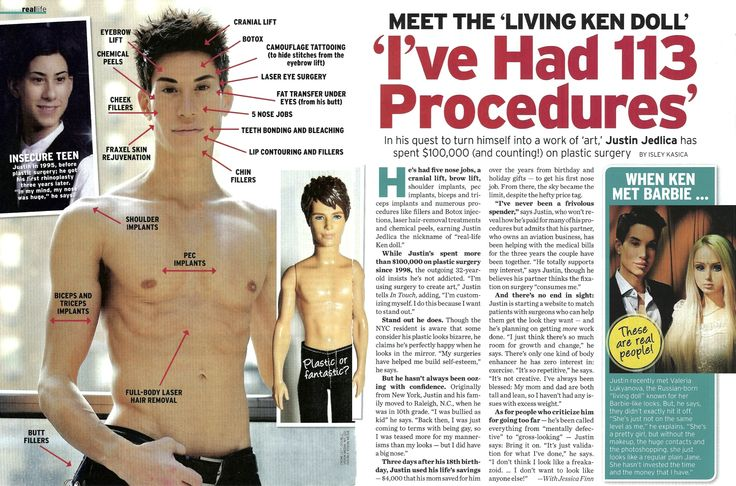 Justin Jedlica-- Ken doll look alike.