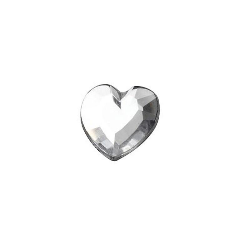 Fasetterte hjerter Klare 14 mm