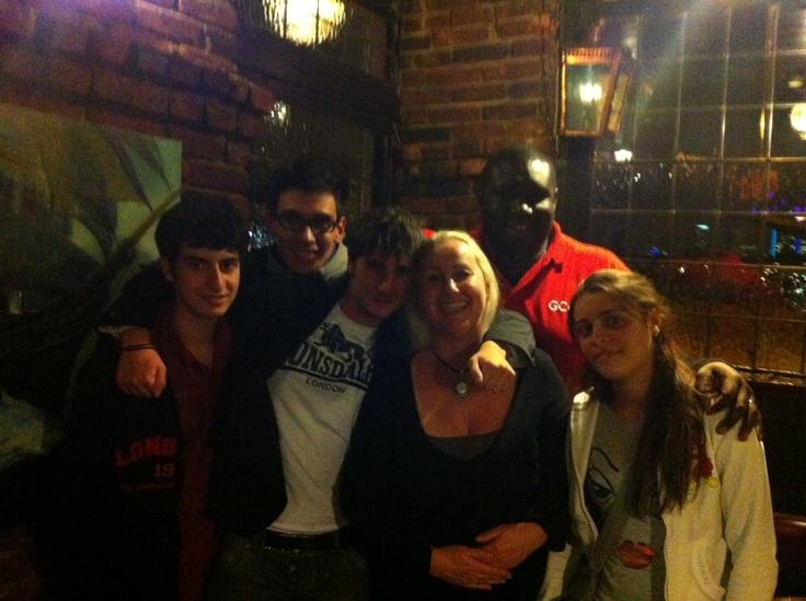 Left to right: Pouya, Francesco, Elio, Lorraine, George and Natalia. Photo taken in the Cutty Sark Pub #greenwich