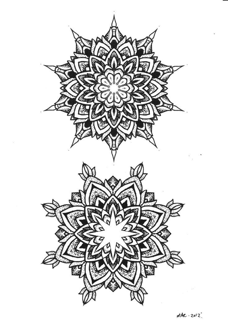 Mandala Flower Tattoo Dot Work Mandala Flowers Tattoos
