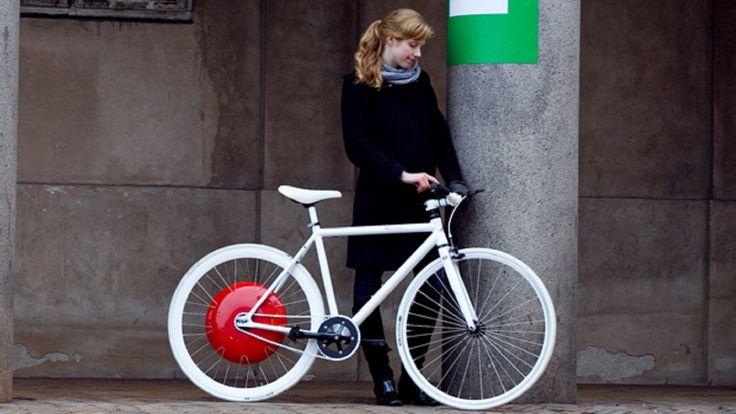 Une roue électrique pour vélo permet d'assister le pédalage - http://hellobiz.fr/une-roue-electrique-pour-velo-permet-dassister-le-pedalage/