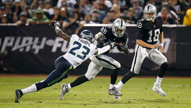 Highlights From The Oakland Raiders Game Against The Seattle Seahawks