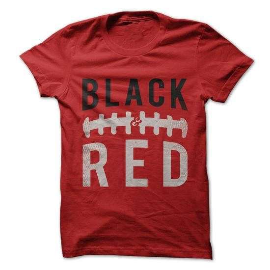 Black and Red - Football - #gift for men #bridal gift. BUY TODAY AND SAVE => https://www.sunfrog.com/Sports/Black-and-Red--Football.html?68278