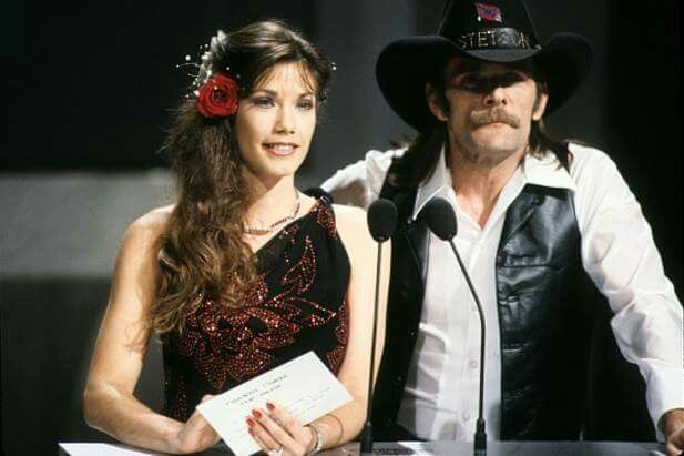 Johnny Paycheck & Barbi Benton as Presenters at the American Music Awards in 1981