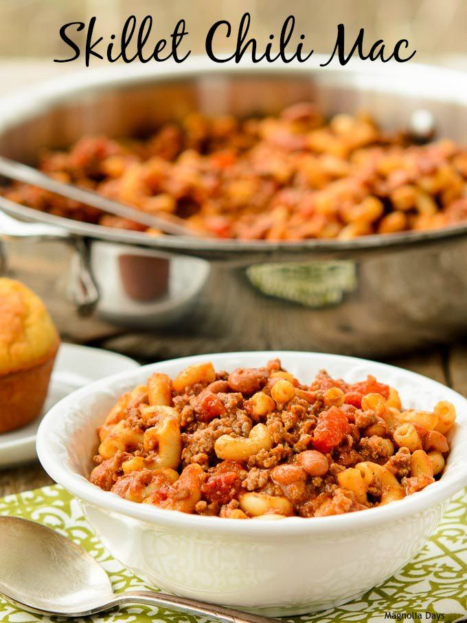 Skillet Chili Mac is classic comfort food. This is a quick and easy recipe for #WeekdaySupper with #McSkilletSauce