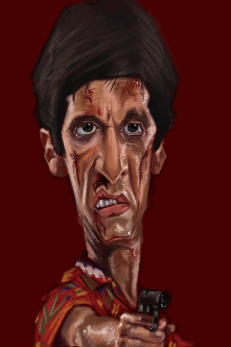 Al pacino as scarface caricature funnyfaces funny for Occhiali al pacino scarface