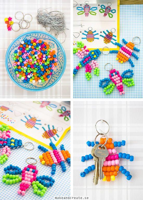 Nyckelringar av pärlor - Idébank - DIY - Make & Create