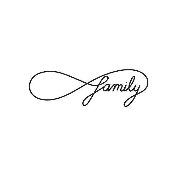 Infinity - Family - Temporary Tattoo (Set of 2