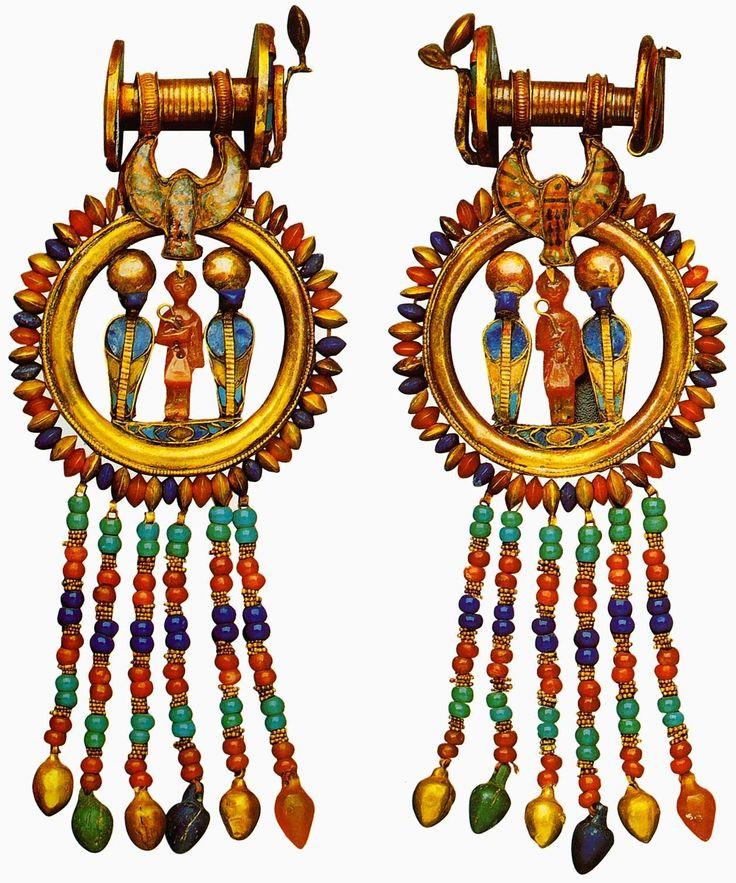 Earrings | Ancient Egypt Jewelry | Pinterest