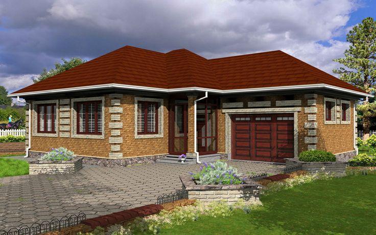 House with brick veneer 3D model - Created by Michael Pechkurov in TurboFloorPlan 3D Home & Landscape Pro v16 | #home #landscape #design #3d #CAD