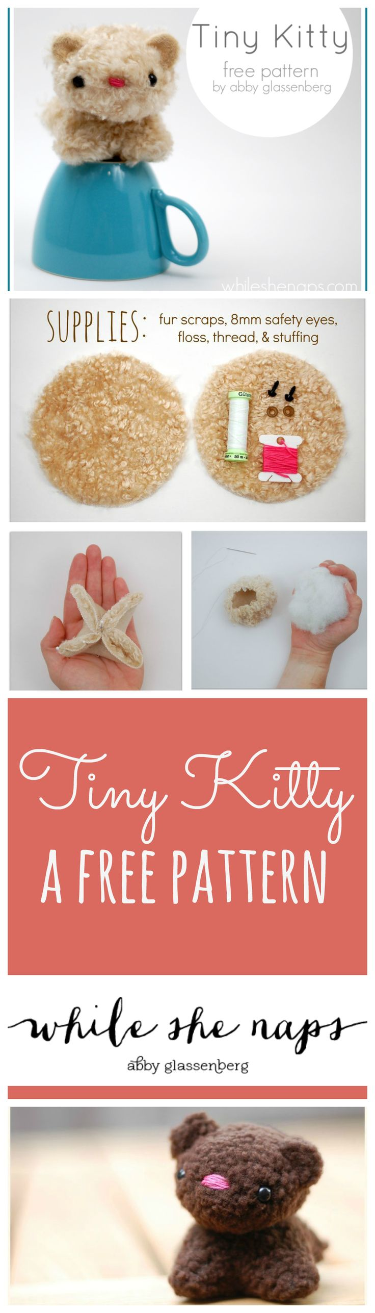 A free pattern for a Tiny Kitty