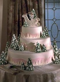Christmas Wedding Cakes ? Beautiful Wedding Cake for Winter Weddings