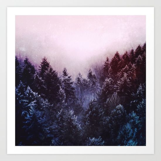 Winter sound Art Print by Lostfog Co↟ . Worldwide shipping available at Society6.com. Just one of millions of high quality products available.