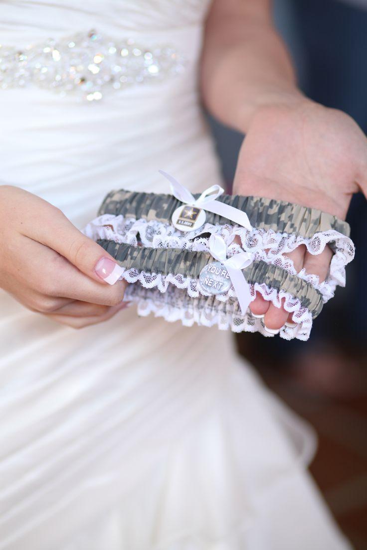 US Army Wedding Garter.