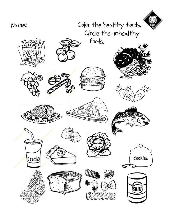 Healthy Eating Worksheets Along With 122 Best Health And Fitness Class Images On Pinterest In 2020 Healthy And Unhealthy Food Unhealthy Food Food Coloring Pages