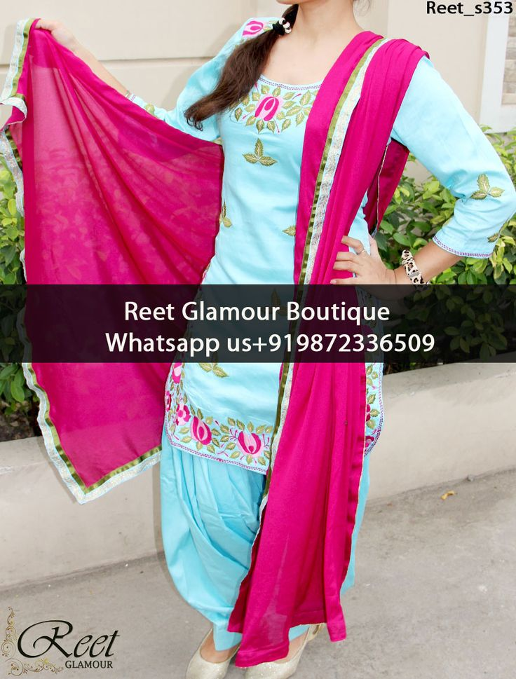 Marvelous Sky Blue Embroidered Punjabi Suit Product Code : Reet_s353 To Order, Call/Whats app On +919872336509 We Offer Huge Variety Of Punjabi Suits, Anarkali Suits, Lehenga Choli, Bridal Suits,Sari, Gowns Etc .We Can Also Design Any Suit Of Your Own Design And Any Color Combination.