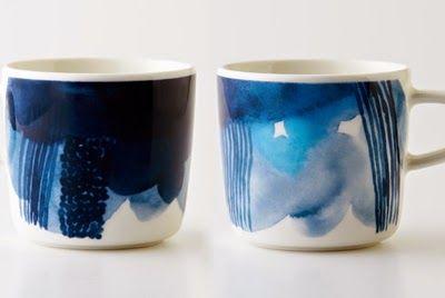 Marimekko's Sääpäiväkirja collection, Aino-Maija Metsola's illustrations on Sami Ruotsalainen's Oiva cups.