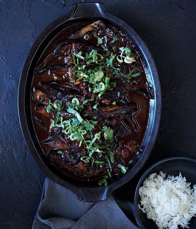 Sichuan braised eggplant recipe :: Gourmet Traveller