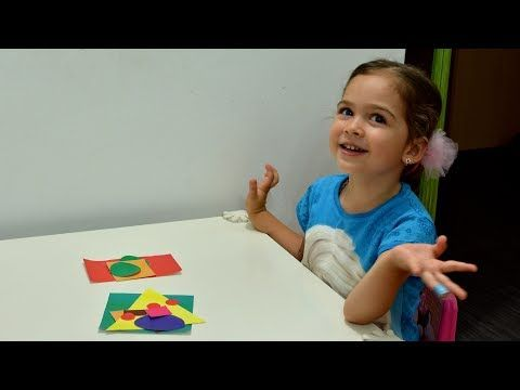 Learn Shapes and Colors Build House fun montessori activities teaching methods kids play education