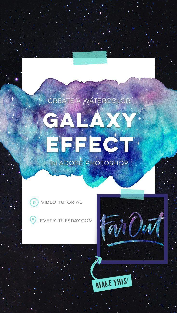 watercolor galaxy effect in Adobe Photoshop