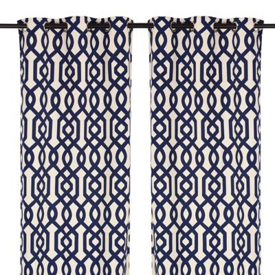 navy gate hill curtain panel set 108 in