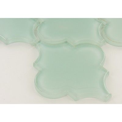 Mist Blue Arabesque Glass Glossy Tile - Browse by Category                                                                                                                                                     More