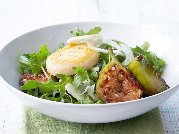 Salade de figue au chèvre chaud, facile