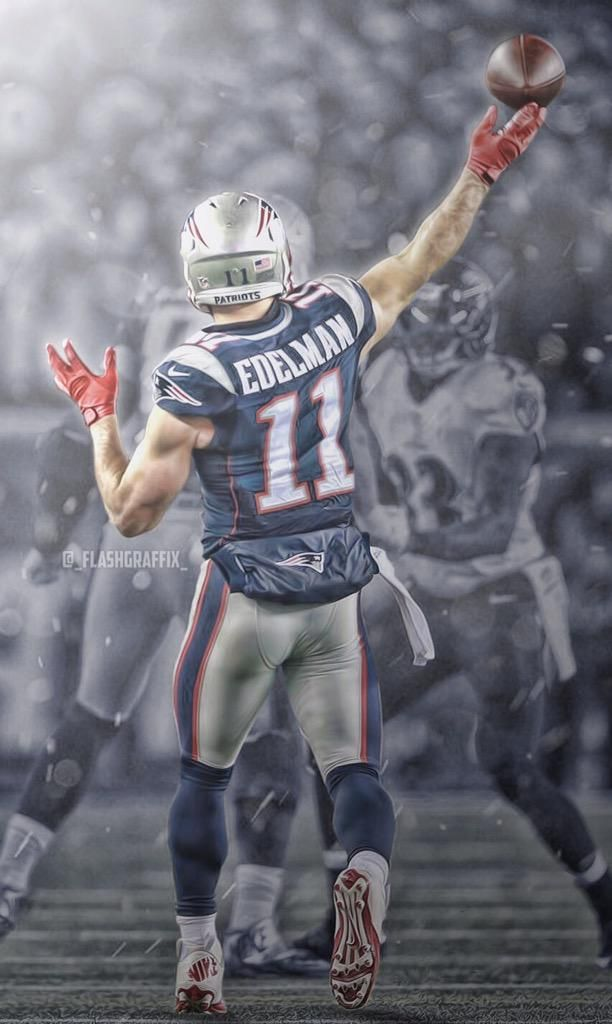 """@SportsWP: Julian Edelman   Wallpaper by @_FlashGraffix_ "" Murdered it today"