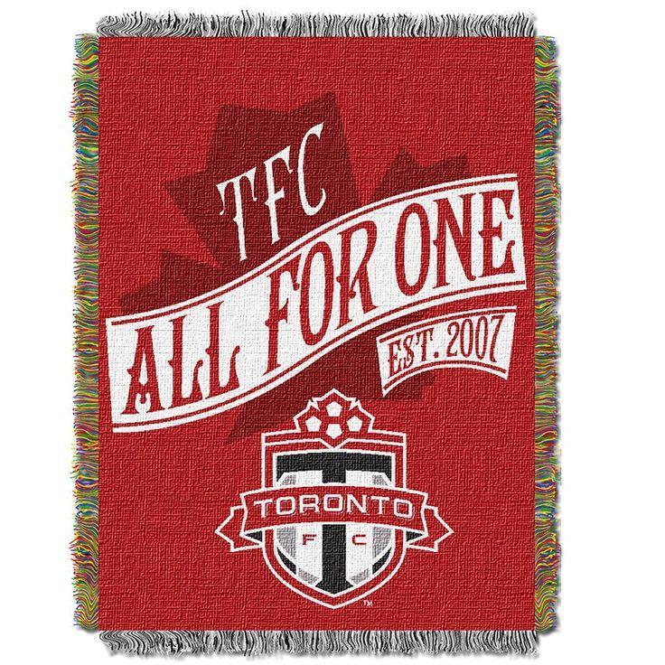 Toronto FC MLS Woven Tapestry Throw Blanket (48x60)