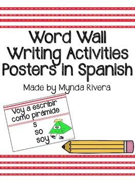 Spanish Activities to use with your Word Wall!