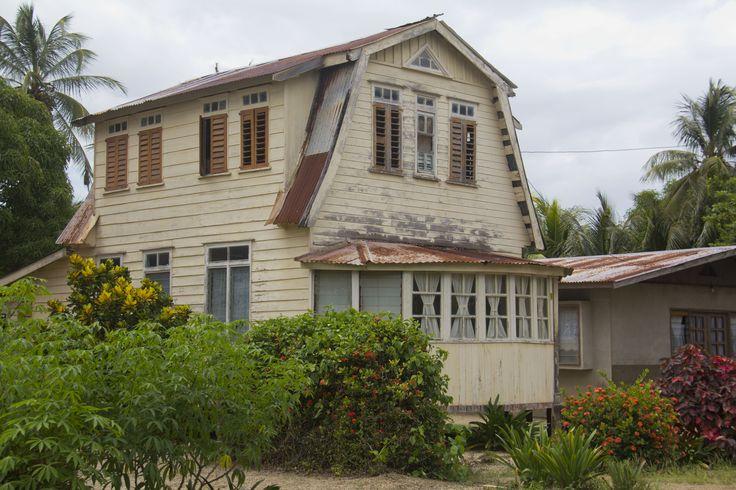 romantisch huisje.  Suriname.