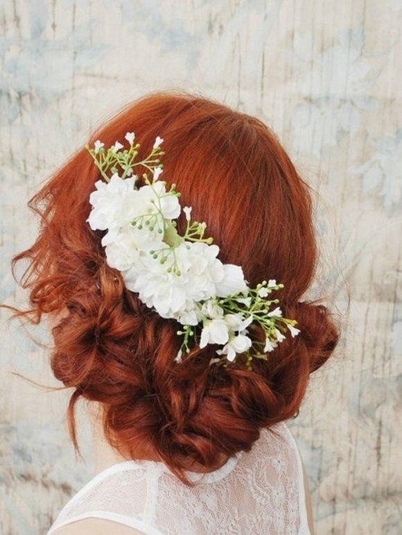 16 Wonderful Ways to Wear Fresh Flowers in your Hair – Wedding Trend Spring 2014 | weddingsonline